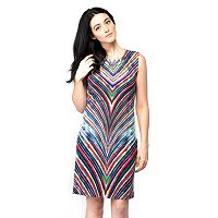 Women's ILE New York Abstract Chevron Sheath Dress