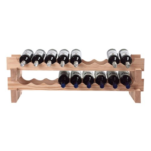 Wine Enthusiast 18-Bottle Stackable Rack - Natural