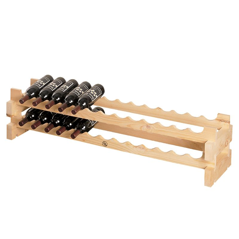 Wine Enthusiast 26-Bottle Stackable Rack - Natural