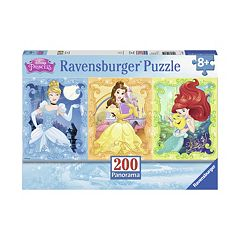 Disney Princess Cinderella, Belle & Ariel 200-pc. Panoramic Puzzle by Ravensburger by