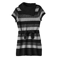 Girls Plus Size It's Our Time Splitneck Striped Sweater Tunic
