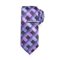 Men's Apt. 9® Stretch Patterned Tie & Tie Bar