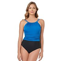 Women's Croft & Barrow® Tummy Slimmer High-Neck One-Piece Swimsuit