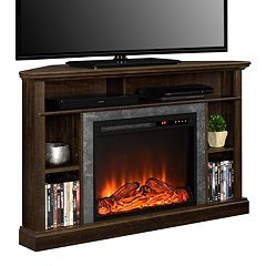 Altra Overland Electric Fireplace Corner TV Stand by