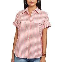 Women's Chaps Striped Oxford Shirt