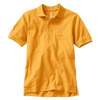 Boys 4-20 Chaps Solid Pique School Uniform Polo