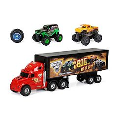 New Bright Radio Control Monster Jam Hauler Set with Grave Digger & Toro Loco by