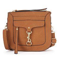 Kiss Me Couture Dog Lock Flap Crossbody Bag