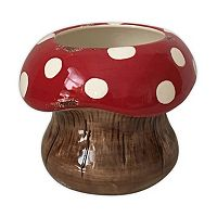 Celebrate Spring Together Small Indoor / Outdoor Decorative Mushroom Planter