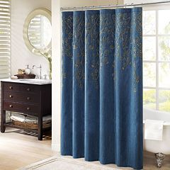 Madison Park Evelyn Embroidered Shower Curtain by