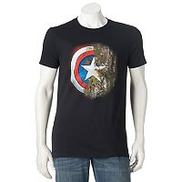 Men's Marvel Captain America Realtree Camo Shield Tee