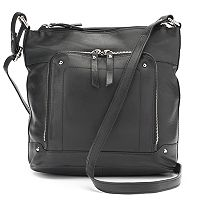 La Diva Violet Triple-Entry Leather Crossbody Bag