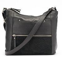 La Diva Jane Dual-Entry Leather Shoulder Bag