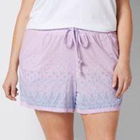 Plus Size SONOMA Goods for Life™ Pajamas: Paisley Dreams Crochet Trim Shorts