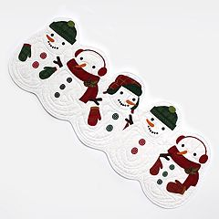 St. Nicholas Square Quilted Snowman Table Runner 36\ by