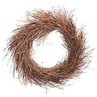 Darice Indoor / Outdoor Artificial Grapevine Shag Twig Wreath