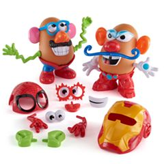 Mr. Potato Head Marvel Spider-Man vs. Iron Man Set by Playskool by