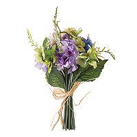 Darice Indoor / Outdoor Artificial Purple Wildflower Stem Bouquet 15-piece Set