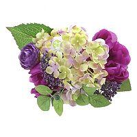 Darice Indoor / Outdoor 9-Stem Artificial Purple Flower Arrangement