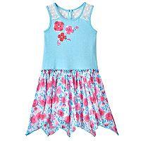 Toddler Girl Nannette Print Hanky-Hem Dress