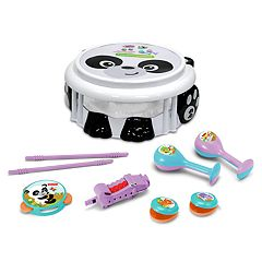 Fisher-Price Panda Musical Band Drum Set by