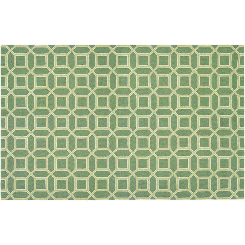 Couristan Bowery Havemeyer Geometric Wool Rug, Green thumbnail