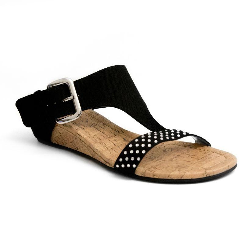Rampage Sheryl Women's Wedge Sandals, Size: 9, Black thumbnail