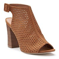 madden NYC Brogann Women's Peep Toe Booties