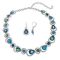Napier Teardrop Link Necklace & Earring Set