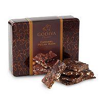 Godiva Chocolate Pecan Caramel Bark Tin