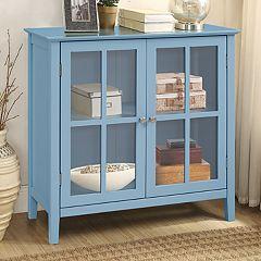 2-Door Window Pane Storage Cabinet by