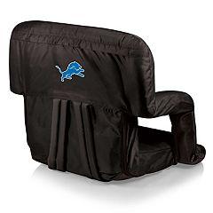 Picnic Time Detroit Lions Ventura Portable Recliner Chair by
