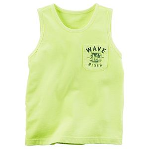 Boys 4-8 Carter's Chest Pocket Graphic Front & Back Tank Top