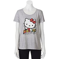 Juniors' Hello Kitty High-Low Graphic Tee