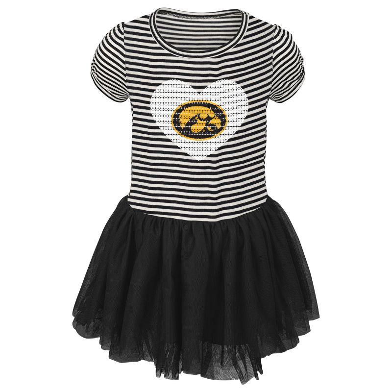 Toddler Iowa Hawkeyes Celebration Dress, Girl's, Size: 2T, Black thumbnail