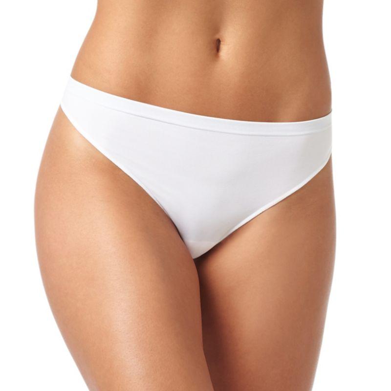 Warner's No Pinching No Problems Seamless Thong Panty RX8514P, Women's, Size: Small, Natural thumbnail