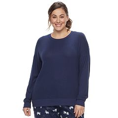 Plus Size SONOMA Goods for Life Pajamas: Nordic Nights Long Sleeve Sweatshirt