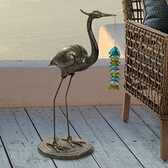 Bombay Outdoors Crane Sculpture Floor Decor  by