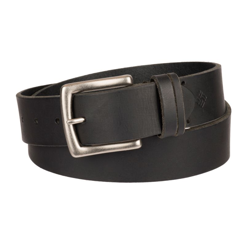 Men's Columbia Beveled Bridle Leather Belt, Size: 34, Black thumbnail