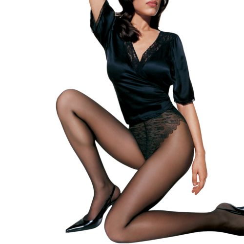 Hanes Silk Reflections French Cut Lace Panty Control-Top Pantyhose