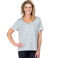 Women's PL Movement by Pink Lotus Strappy Short Sleeve Yoga Top