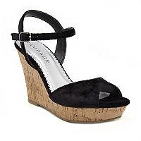 Rampage Crissy 2 Women's Velvet Wedge Sandals