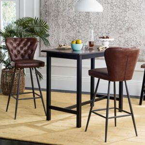 Safavieh Aster Faux-Leather Bar Stool 2-piece Set