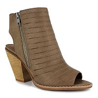 Dolce by Mojo Moxy Cash Women's Peep Toe Ankle Boots