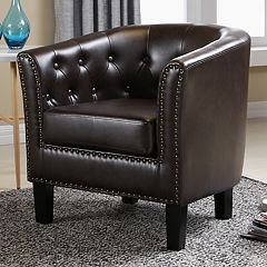 Lincoln Tufted Tub Accent Chair