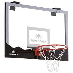Silverback 23-Inch LED Light-Up Over-the-Door Mini Basketball Hoop Set by