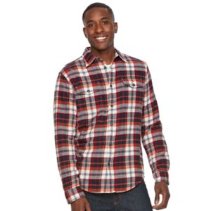 Men's SONOMA Goods for Life™ Plaid Flannel Button-Down Shirt