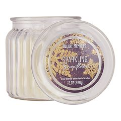 Holiday Memories Sparking Snowflake 13-oz. Candle Jar  by