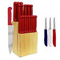 Ginsu Quikut Home Basics 23-pc. Combo Cutlery Set