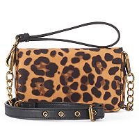 madden NYC Joey Leopard Print Convertible Crossbody Bag